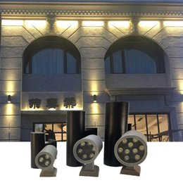 Discount decorative spot lights - 6W 12W 18W 24W 36W Led Outdoor Wall Light Lamps cylinder UP Down dual head Waterproof IP65 AC85-265V garden Decorative s