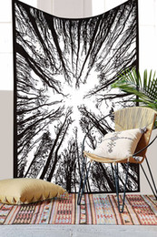 $enCountryForm.capitalKeyWord UK - 148*210cm Forest Trees and Stars Starry Sky Fabric Wall Hanging Tapestry Home Decor Polyester Curtains Plus Long Table Cover