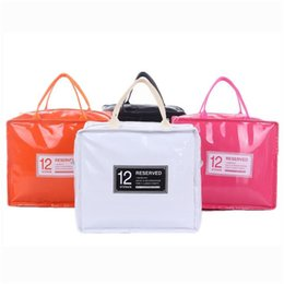 Discount lunch bags for kids - PU Leather Lunch Package Ice Pack Thermo Thermal Lunch Bag for Women Kids Lunchbags Tote Cooler Lunch Box Insulation Pic