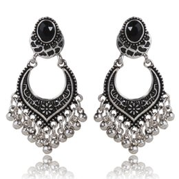 $enCountryForm.capitalKeyWord NZ - Small Beads Tassel Old Silver Earrings Black Diamond Earrings CE258