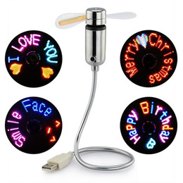 $enCountryForm.capitalKeyWord NZ - Authentic USB Programmable Fan Flexible Gooseneck Message Programmable RGB LED Display Memory Function For PC Notebook Desktops Perfect Gift