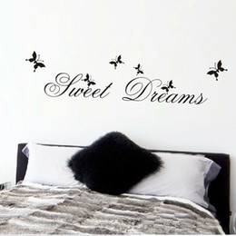 Sweets Wall Stickers Australia - 2019 Hot Sale wholsale sweet dreams wall stickers bedroom decoration diy home decals quotes mural arts printing pvc poster