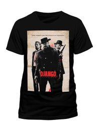Shorts For Tall Men NZ - Hot Cheap's Crew Neck Short Django Unchained Movie Poster Tarantino Jamie Foxx Di Caprio Black Mens T-Shirt Tall T Shirt For Men