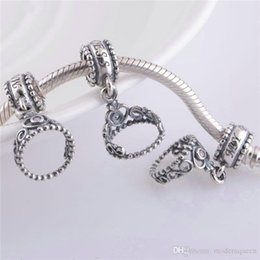 princess charms NZ - 5 pcs Lot DISNY wholesale My princess charms 925 silver fits pandora style bracelets 791117CZ H6