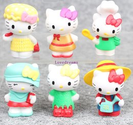 figure classics Australia - 6pcs Set 4-5cm Japanese classic anime figure hello kitty action figure collectible model toys for Kids Phone Accessories