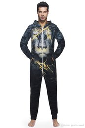 a7e3880a77 Winter Autumn Mens Designer Leisure wear Wolf Head 3D Print Hooded  Sweatshirt EURO Size Mens Bodysuit