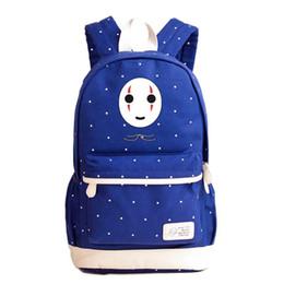 3d44d725cf9d Miyazaki Hayao Anime Totoro Spirited Away No Face Man Printing Backpack  Kawaii Women Shoulder Bags Canvas Laptop Backpack