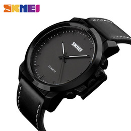 efc8eb4279b4 SKMEI Relojes de Cuarzo Hombres IP Chapado en Negro de Gran Dial 30 M  Impermeable Moda Casual Caballero Relojes de pulsera Relogio Masculino 1208