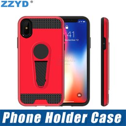 cell phone kickstand Canada - ZZYD Hybrid combo anti shock TPU+PC magnetic kickstand holder cell phone case shockproof back cover for samsung j2 pro a8 2018