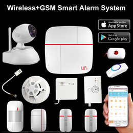 $enCountryForm.capitalKeyWord Australia - Wireless WiFi + GSM Home House Alarm System Multi language Smart Security Burglar Intelligent Voice Prompt Alarm smoke Sensor