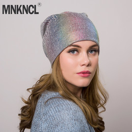 $enCountryForm.capitalKeyWord NZ - Women's Winter Colorful Hat Knitted Wool Beanie Female Fashion Skullies Casual Outdoor Mask Ski Caps Thick Warm Hats for Women D18103006