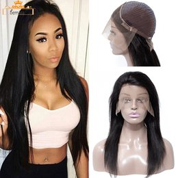 Discount natural black human hair wig - Pre Plucked Human Hair Wigs with Baby Hair Unprocessed Brazilian Straight Body Deep Wave Lace Front Wigs For Black Women