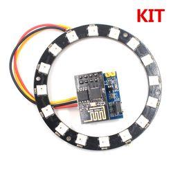 $enCountryForm.capitalKeyWord Australia - ESP8266 ESP-01S WS2812 RGB LED Ring Controller 24Bit WS2812 5050 RGB LED Integrated Drivers for arduino KIT Christmas gift