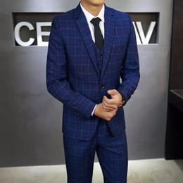 H Suit Australia - New Arrivals Wool One Button Groom Tuxedos Notch Lapel Groomsmen Best Man Suits Mens Wedding Suits (Jacket+Pants+Vest+Tie) H:509