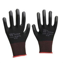 Nylon Coating Australia - Work Gloves White Nylon Coated Men Women Breathable Pu Thin Section Labor Insurance Gloves Anti static
