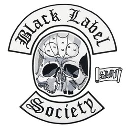Bikers Back Patches Australia - Hot Sale Black label Society patch MC Embroidered Full Back Large Pattern For Rocker Club Biker MC Patch Free Shipping