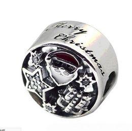 $enCountryForm.capitalKeyWord UK - 100% 925 Sterling Silver Christmas Joy Charm Mixed Enamel & Clear CZ Beads Fit Pandora Charms Bracelet Diy Jewelry Making