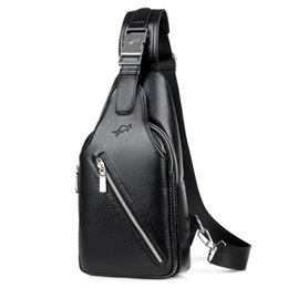 c534047579 2018 new arrived Men s casual Shoulder PU leather Crossbody Bags travel Chest  pack Messenger bag Anti-theft Sling Bag