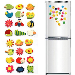 $enCountryForm.capitalKeyWord Australia - 12pcs Set Educational Cartoon Toy Baby Kid Gift Cartoon Funny Cute Kitchen Fridge Magnet Sticker souvenir refrigerator magnets