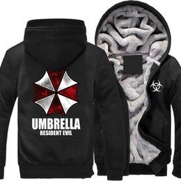 Men's Clothing Resident Evil Hoodie Umbrella Corp Hoodies Oversize Cotton Pullover Hoodie Men Red Winter Fashion Loose Long Hoodies