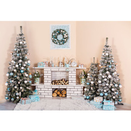 $enCountryForm.capitalKeyWord NZ - Light Pink Wall Garland Fireplace Backdrop Printed Gifts White Blue Balls Decorated Christmas Trees Baby Kids Photo Backgrounds