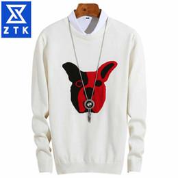 $enCountryForm.capitalKeyWord Australia - Cartoon pattern sweater male autumn winter style slim build bottom knit male circular collar clothing