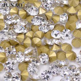 8mm Dress UK - SS39 8mm Clear Glass Rhinestones Applique Pointback Crystal  Strass Chaton Round Nail b62350684d3d