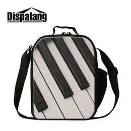 insulated picnic cooler bag Canada - Hot Sale Children Small Lunch Bags For School Piano Printed Kids Lunch Box Women Portable Outdoor Cooler Bag Insulated Picnic Food Lancheira