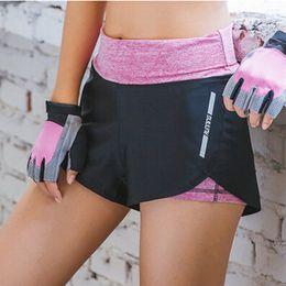 $enCountryForm.capitalKeyWord Canada - Womens Fitness Yoga High waist shorts Fake Two pcs Sport Running Slim sportswear Anti-light short
