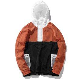 Windbreaker Orange NZ - 2018 fashion style stand collar with hat autumn winter windbreaker