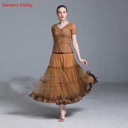 $enCountryForm.capitalKeyWord Australia - Girls Modern Dance Diamond Perspective Top Splicing Skirt Competition Performance Suits Women Ballroom National Standard Waltz Dancewear Set