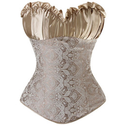 Body corset xxl online shopping - Women s Satin Overbust Corsets Women Slimming Body Waist Women Shapewear Colors Size S M L XL XXL XL XL XL XL