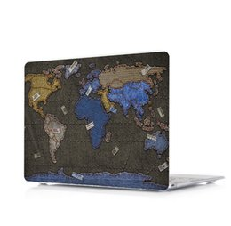Macbook Retina 13 Inches Australia - Map-12 Oil painting Case for Apple Macbook Air 11 13 Pro Retina 12 13 15 inch Touch Bar 13 15 Laptop Cover Shell