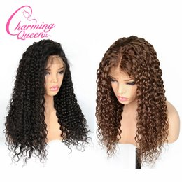 Deep Curly Indian Lace Wig Australia - Charming Queen Lace Front Human Hair Wigs For Black Women Pre Plucked Deep Wave Curly Brazilian Remy Hair Wigs With Baby Hair