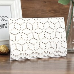 Discount lace invitation card designs - 2018 New Design Invitation Cards With Lace Patterns Hearts Foil Embossing Hollow Personalized Laser Cut Wedding Invitati