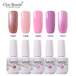 Glitter red Gel polishes online shopping - Clou Beaute UV LED Glitter Lacquer Polish Pink UV Gel Nail Polish Soak Off Red Long Lasting Gel French Manicure lacquer