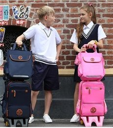 kids backpacks wheels Australia - Kids Wheeled Backpack Children Travel Luggage Backpack Bag on wheels trolley backpack for School Girls Rolling Bag with wheels Y18110107