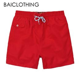$enCountryForm.capitalKeyWord UK - new Wholesale-Summer Men polo Short Pants Brand Clothing Swimwear Nylon Men Brand Beach Shorts Small horse Swim Wear Board Shorts 2018
