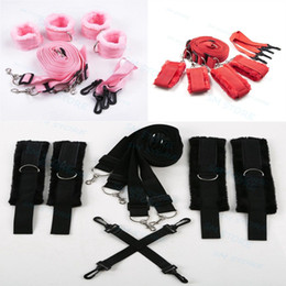 Wholesale Under Bed Wrist Ankle Cuffs Behind Back Hog Tie Cross Strap Set R87