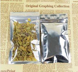 $enCountryForm.capitalKeyWord Australia - 1000pcs 7*13cm Aluminum foil Zipper lock bag One size transparent plastic package Zip Ziplock packing food candy gift