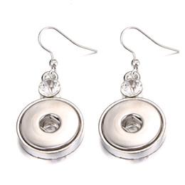 Discount noosa snap earrings - Noosa Snap Jewelry Vintage Silver Round 18mm Metal Snap Button Earrings DIY Noosa Chunk Stuk Earrings for Women Gift