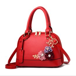China Cheap 2018 Sling Small Square Bags for Women Leather Handbags Korean Fashion Red Flower Shoulder Messenger High Quality Woman Bag cheap black diamonds for cheap suppliers
