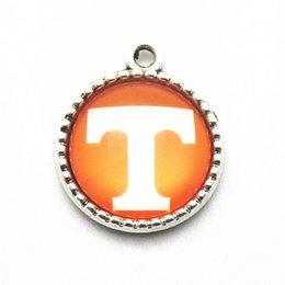tennessee jewelry NZ - NCAA Tennessee Team Sports Hanging Dangle Floating Charms Fit DIY Necklace pendant Bracelets For Women Jewelry