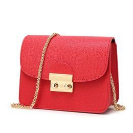 $enCountryForm.capitalKeyWord Canada - Fashion Women Small Messenger Bag Female Chain Crossbody Shoulder Bags Flap Solid Pattern PU Leather Mini Clutch Handbags