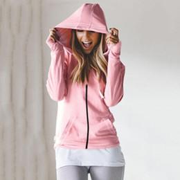 Womens Zipper Sweatshirt NZ - Womens Hoodie Sweatshirt Tops Autumn Casual Zipper Long Sleeved Coats Solid Lace Up Hooded Harajuku Outwear SJ725U