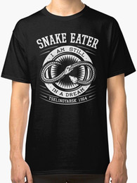 Neck Gear NZ - Not For Honor, But For You metal gear Snake Eater New T-Shirt Men's Black T shirt O-Neck Summer Personality Fashion Men T-Shirts