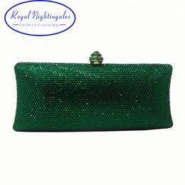 $enCountryForm.capitalKeyWord NZ - Royal Nightingales Green Clutch Purse Evening Bags For Women Rhinestone Clutch Bags Wedding Party Purse Bridal Handbags Prom Bag
