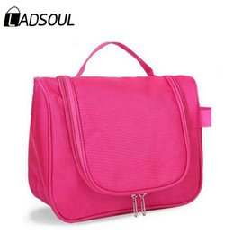 2018 aluminum travel Wholesale- Ladsoul women cosmetic bags high quality makeup necessaries organizer travel waterproof casual candy color ha