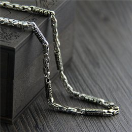 $enCountryForm.capitalKeyWord NZ - designer jewelry vintage 925 sterling silver neckace six-character mantra marcasite necklace mens chain 5 mm thick bare chain china direct