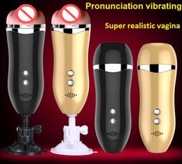 $enCountryForm.capitalKeyWord Australia - New Voice Vibrating Male Masturbation Cup Artificial Realistic Vagina Pocket Pussy Male Hands Free Masturbator Vibrator Sex Toys For Men
